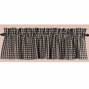 Heritage House Check Valance Black
