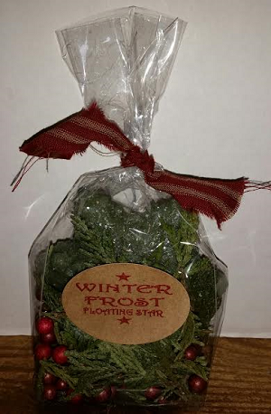 WINTER FROST SMALL STAR CANDLE KIT