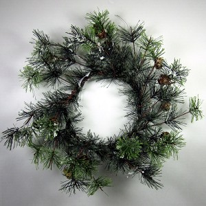 "6"" Icy Pine Candle Ring"