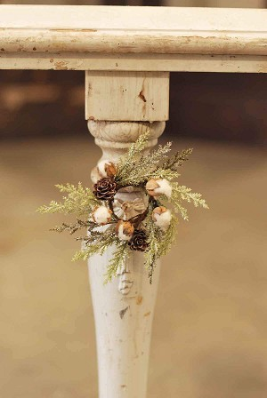 Mini Cotton & Pine Candle Ring | 7""