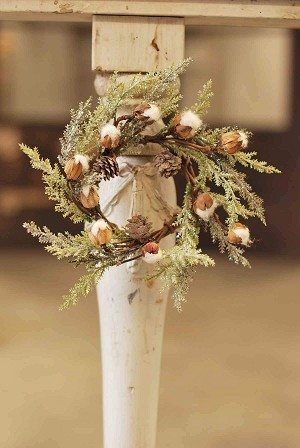 Mini Cotton & Pine Candle Ring | 9""