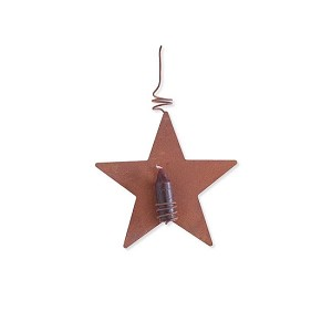 Primitive Star Candle Ornament