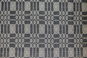 "BAYBERRY WEAVE BLACK/TAN 52"" TABLE SQUARE"