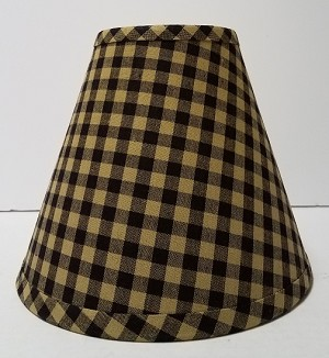 "14"" Black Large Check Lampshade"
