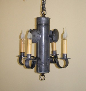 Small Whaler Chandelier with Reflectors