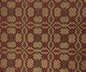 Charleston Weave Cranberry/Tan/Green