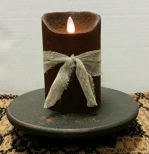 Colonial Flameless Candle Chocolate 5""