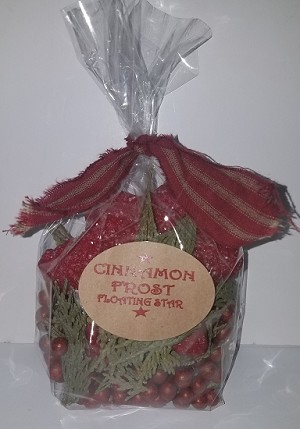 CINNAMON FROST SMALL STAR CANDLE KIT