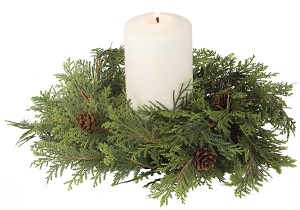 CYPRESS WH CANDLE RING