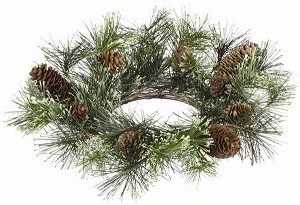 "PINE/CONE 4.5""CANDLE RING"