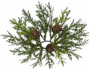 "ARBORVITAE 1.5"" CANDLE RING GREEN"