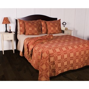 Smithfield Jacquard Bedcover Queen Barn Red-Nutmeg