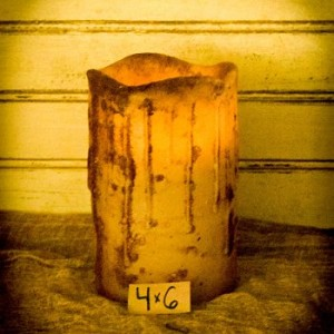 "Flameless Candle in Cream – 4"" x 6"""