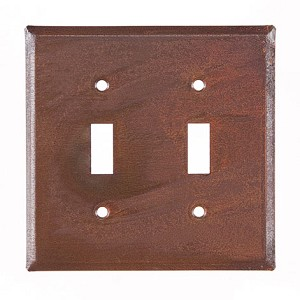 Double Switchplate Rustic Tin