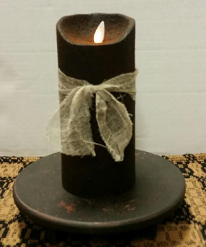 Colonial Flameless Candle Ebony 7""