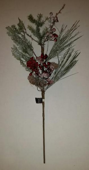 Iced Holiday Pine Spray 24""