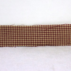 "Bag of 12 1.5"" x 44"" Homespun Burgundy Country Fair Gingham Strips"