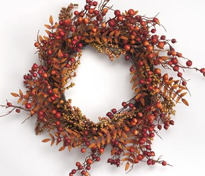 "20"" Berries & Foliage Wreath"