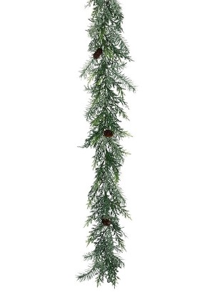 6' PRICKLY PINE SILVER GARLAND