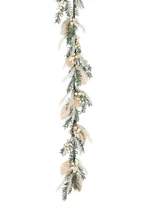 "55"" PINE BERRY FROST GARLAND"