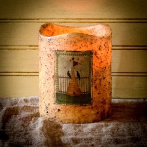 5×6 Three Wick Timer Pillar–Beehive