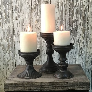 Black Tin Stands - Set of 3