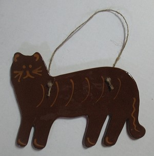 Redware Cat Wall Hanging