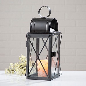 Pilgrim Lantern with Glass Panels