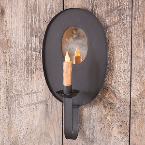 Oval Wall Candle Sconce