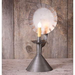 Wired Accent Light on Cone in Antique Tin