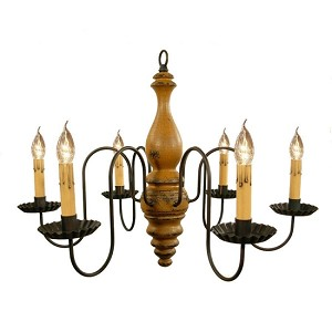 Anderson Chandelier in Mustard Crackle Over Black