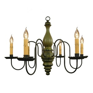 Anderson Chandelier in Sage Green Crackle Over Black