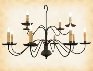 Monticello Wrought Iron Chandelier
