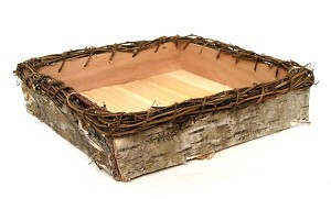 Birch Square Tray with Twig