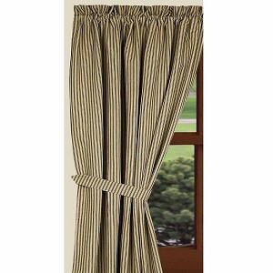 York Ticking Panels Black