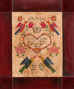 Bless This House Fraktur by Susan Daul