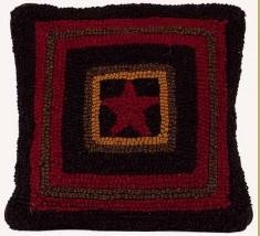 Hooked Single Star Pillow