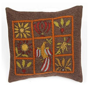 Colonial Squares Pillow 14 In x 14 In