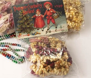 9' Popcorn and Cranberry Garland