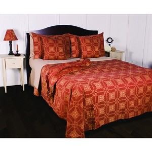 Smithfield Jacquard Pillow Sham Barn Red-Nutmeg