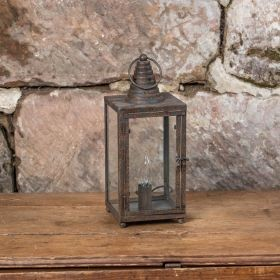 ELECTRIC SQUARE AGED LANTERN