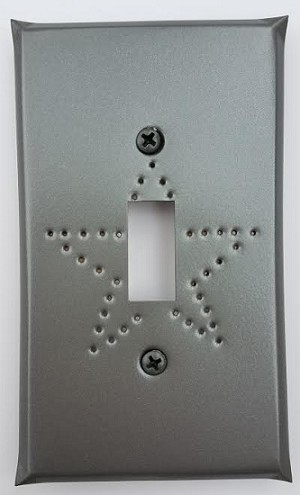 Tin Single Switchplate Star Punch