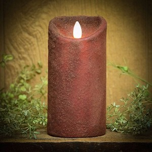 Real Look Flameless Battery Timer Candle-Red
