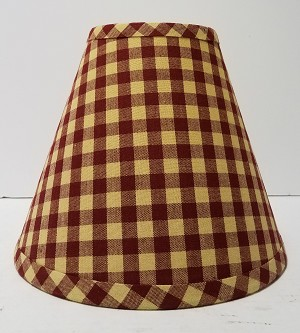 "14"" Red Large Check Lampshade"