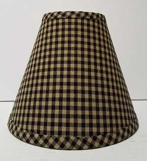 "8"" Black Small Check Lampshade"