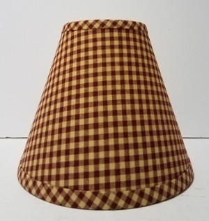 "14"" Red Small Check Lampshade"