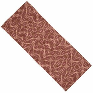 Marshfield Jacquard Table Runner Barn Red