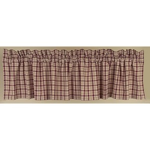 Salem Check Valance Barn Red