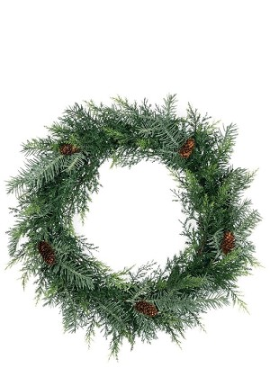 "20"" PRICKLY PINE SILVER WREATH"