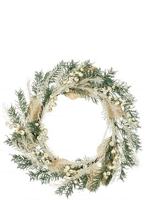 "22"" PINE BERRY FROST WREATH"